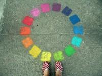 Voeten en kleur cirkel